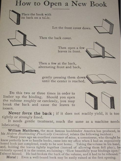 como abrir un libro