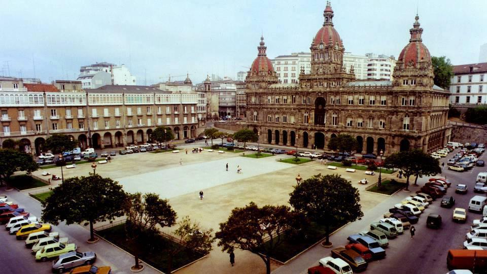 Praza de María Pita nos anos 70